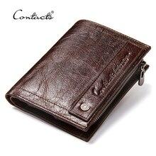 2020 novo design da marca carteiras dos homens 100% bolsa de couro genuíno com titular do cartão de crédito masculino carteira com zíper moeda bolso foto titular