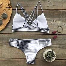 Push Up Triangle Bandage Two Pieces Swimwear