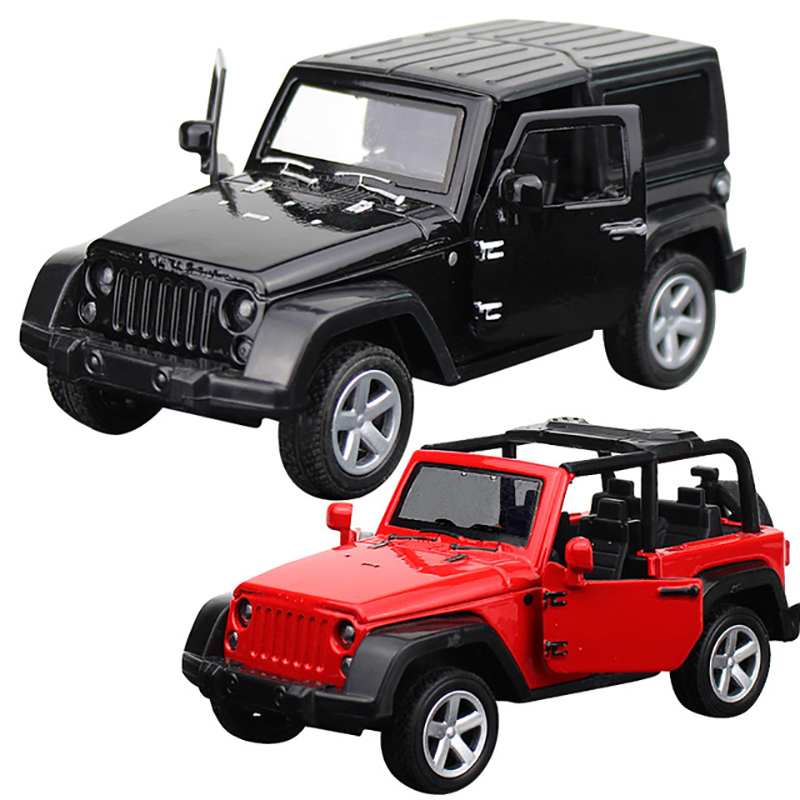 Off-road Convertible Jeep Wrangler Diecasts & Toy Vehicles Car Model With Collection Car Toys For Boy Children Gift Birthday