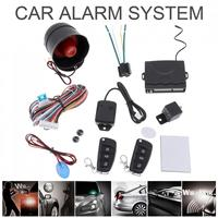 Universal12V Auto Car Alarm Keyless Entry System Support Central door locking system with Remote Control Siren Sensor