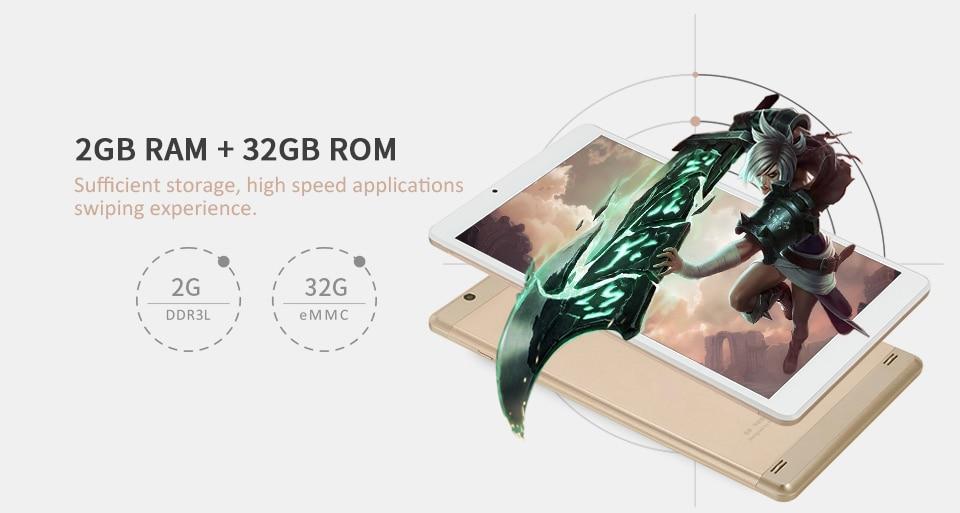 2017 Best Gift Ultra Slim 10.1 inch Andriod 6.0 OS Golden Tablet PC 32GB/2GB Aoson R103 IPS 800*1280 5MP WIFI FM GPS 6000mAh 10