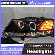 Auto.Pro Car Styling for Audi A6 C5 Headlights 2005-2012 A6 LED Headlight DRL Lens Double Beam H7 HID Xenon bi xenon lens