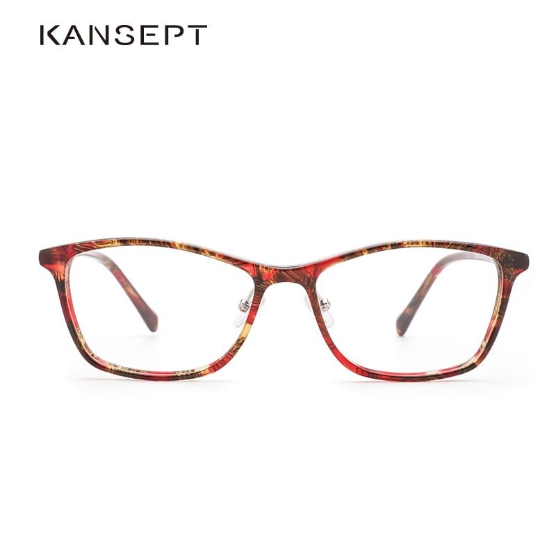 Acetate Women Eyeglasses Myopia Frame Transparent Vintage Optical Spectacle Frame Eyeglasses For Women #JS035