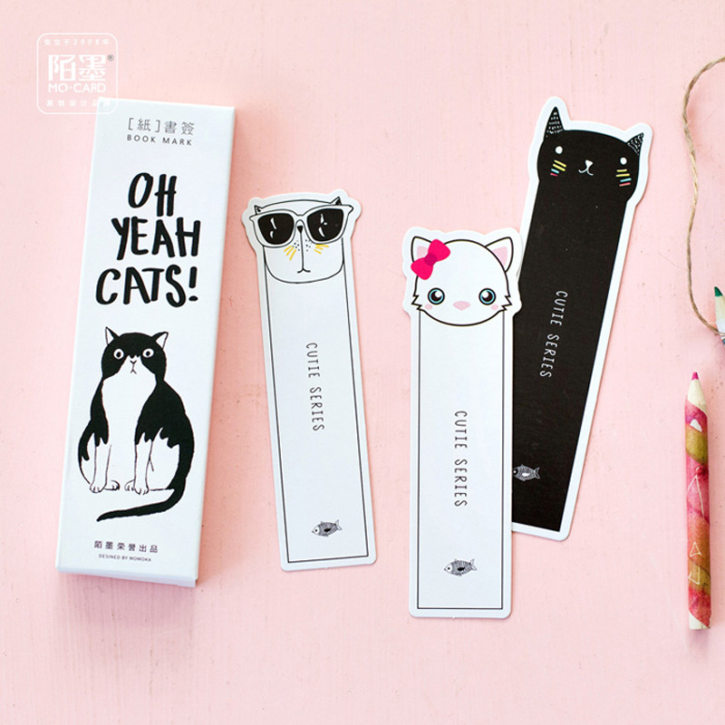 P05 30pcs/pack Kawaii Cute Oh Yeah Cats Paper Bookmark Decorative Craft Bookmark of Page Stationery Gift Film Bookmark ...
