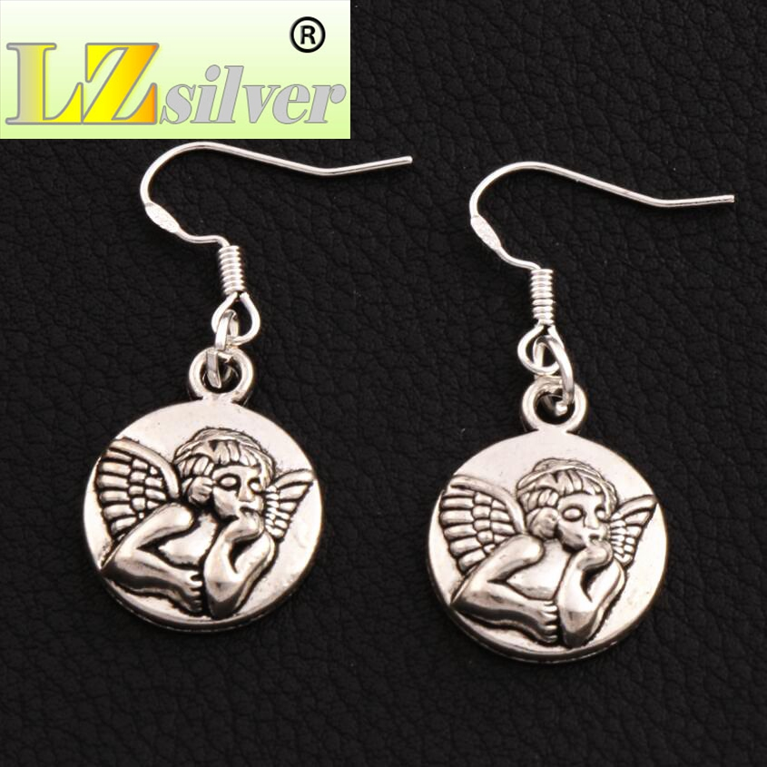 Charms Jewelry Sets & More Baby Angel Of Caring Earrings 925 Silver Fish Ear Hook Chandelier E089 30pairs 37.4x15.8mm Antique Silver To Invigorate Health Effectively