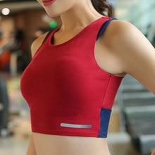 Womens Running Bra Fitness Bra Yoga Push Up Sports Bra Gym Running Padded