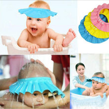 Adjustable Baby Shampoo Cap Soft EVA Baby Bath Waterproof Hat Kids Wash Hair Protection Infant Health Care Accessories New(China)