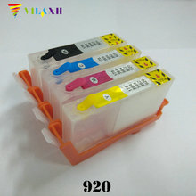 Vilaxh 920xl Refillable Ink Cartridge Replacement For HP 920 xl Officejet 6000 6500 6500A 7000 7500 7500A Printer With ARC Chip все цены