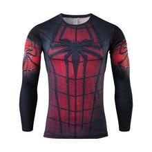 new avengers spiderman, batman, superman, iron man men long sleeve T-shirt avengers alliance 2 superhero T-shirt