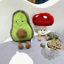 UK очень мягкий детский игрушечный милый плюшевая игрушка авокадо фруктовое мороженое улыбка закуски гриб игрушки из желе Подарочная игрушка для младенцев