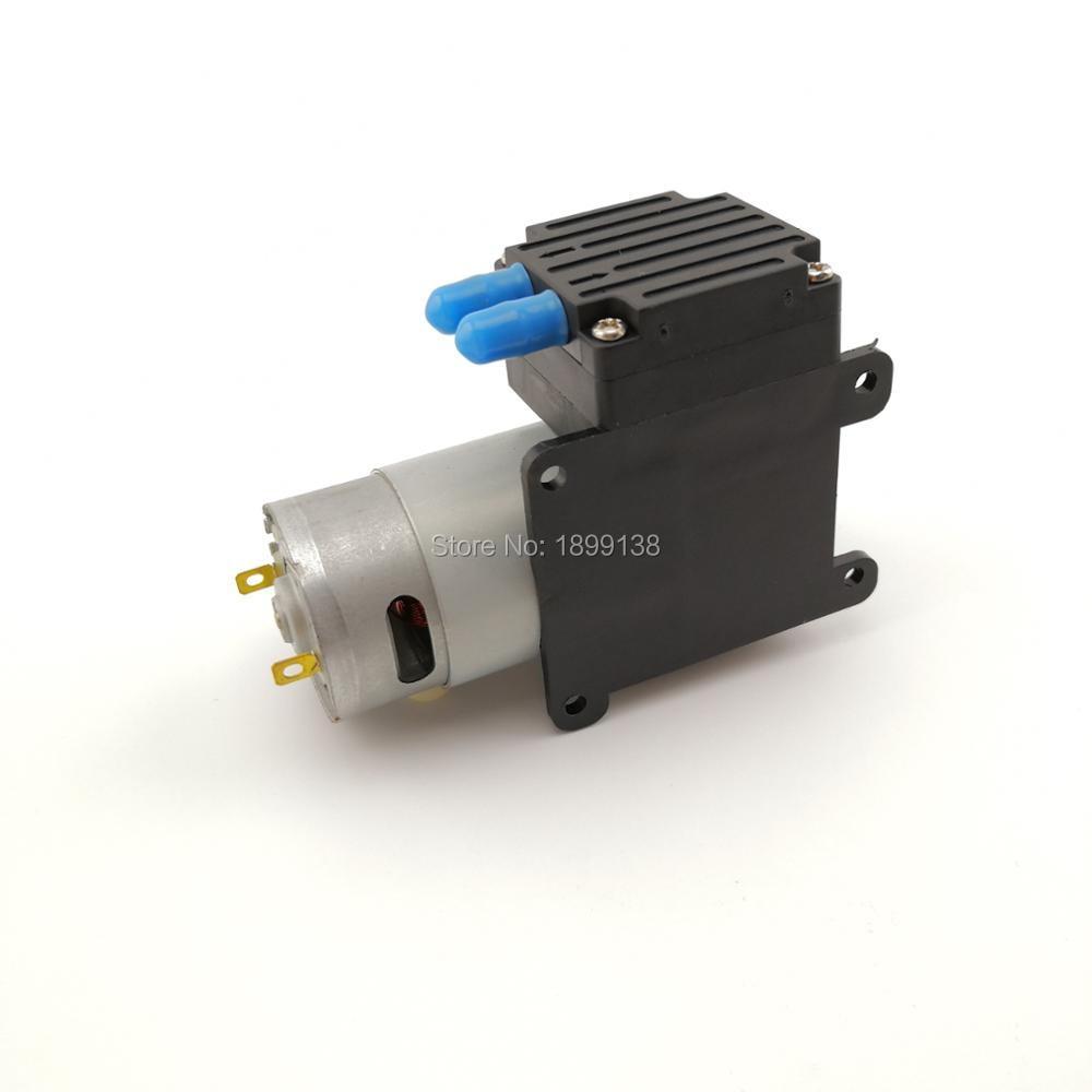 цена на 83kpa negative pressure mini vacuum pump air 18L/Min dc 9v 12v 24v piston small vacuum pump suction air for medical