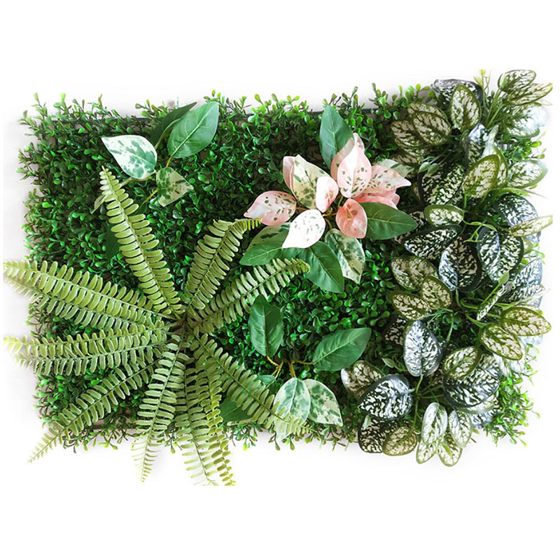 60x40 Cm DIY Green Artificial Plant Wall Eucalyptus Clover Fern Leaf Lawn Hotel Wedding Background Decoration