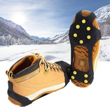 Soumit Non-slip Ice Cleat Ice Crampons Cleats Ice Claws Snow Grabbers Silicone Rubber Anti-slip Safety Shoe Covers Overshoes