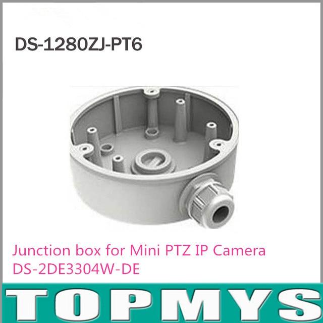 Free Shipping Wall Mount Bracket Junction box DS-1280ZJ-PT6 for Mini PTZ IP Camera DS-2DE3304W-DE
