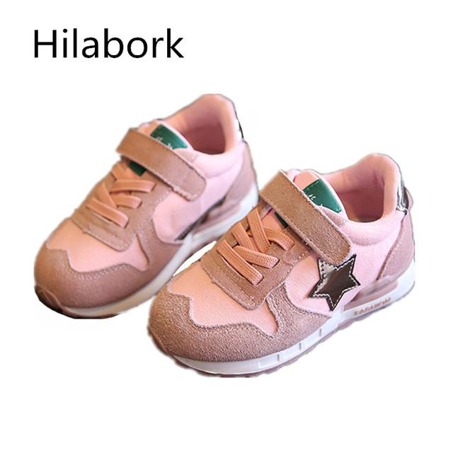2017 esportes do bebê sapatos meninos 1-2-3 anos de idade sapatos fundo macio primavera e outono sapatos de bebê da criança meninas sapatos de couro de corrida