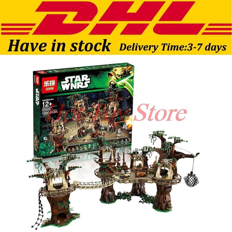 In Stock LEPIN 05047 1990Pcs Star Wars Ewok Village Model Building Kits Minifigure Blocks Bricks Compatible
