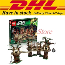 In Stock LEPIN 05047 1990Pcs Star Wars Ewok Village Model Building Kits Minifigure Blocks Bricks Compatible
