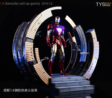 1/6 Scale action figure Scene accessories Iron Man Mark VI Suit-Up Gantry Stand F 12