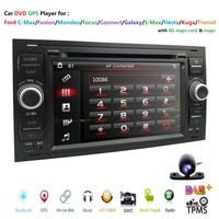 Car DVD GPS Navi Player Auto Radio Audio For Ford Focus 2 Mondeo S C Max Fiesta Galaxy Connect SWC RDS DAB+ TPMS BT 3G CD Camera