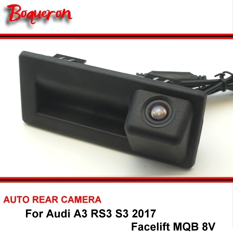 For Audi A3 RS3 S3 2017 Facelift MQB 8V High Quality HD Car Rearview Parking Reverse Camera Original Factory Trunk Handle Camera