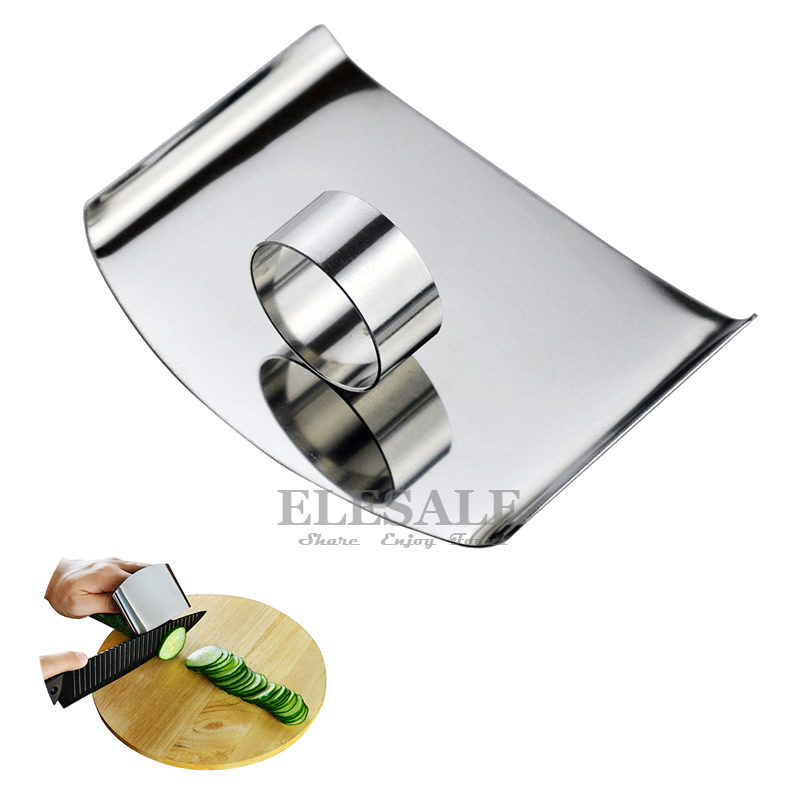 High Quality Stainless Steel Anti-Cutting Ring With Shield For Women Men Cooking Finger Protection Cut-Proof  Hands Guard
