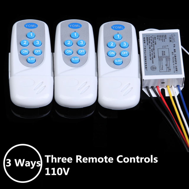 AC 110V Digital Wireless Remote Control Switch For Lamps Light ...