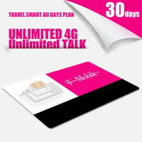 3 IN 1 TRAVEL US 30 Days Plan T Mobile MOBILE PHONE SIM Card With Unlimited