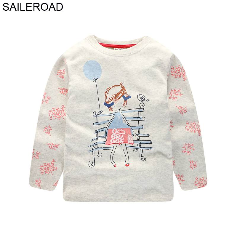 SAILEROAD Little Girls Long Sleeve T Shirts Autumn Children Tops Clothes Cotton Girl Tops and Tees Fall 2018 Kids Clothes 1-6TSAILEROAD Little Girls Long Sleeve T Shirts Autumn Children Tops Clothes Cotton Girl Tops and Tees Fall 2018 Kids Clothes 1-6T