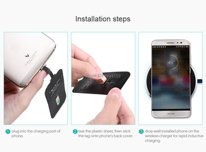 Image 4 - Universal Qi Wireless Charger Receiver Charging Nillkin Magic Tags Micro USB / Type C Adapter For iphone 5 5S SE 6 6S 7 Plus
