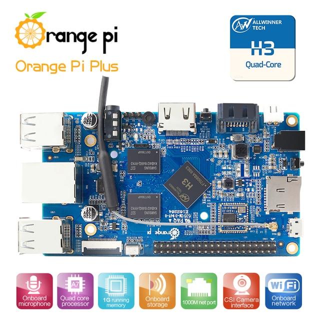 Orange Pi plus H3 Quad Core 1.6GHZ 1GB RAM  4K Open-source Development Board Beyond Raspberry