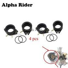 4 pçs para yamaha virago xv 1100 700 750 xv1100 xv920 carburador interface manifold botas carburador adaptadores conector isolador