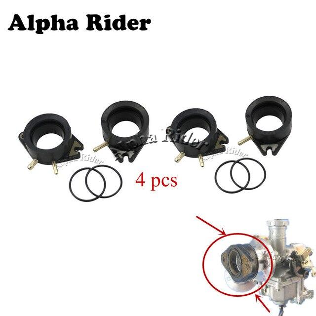 4pcs For Yamaha VIRAGO 1100 XV 700 750 XV1100 XV920 Carburetor Interface Manifold Boots Carburetter Adapters Insulator Connector