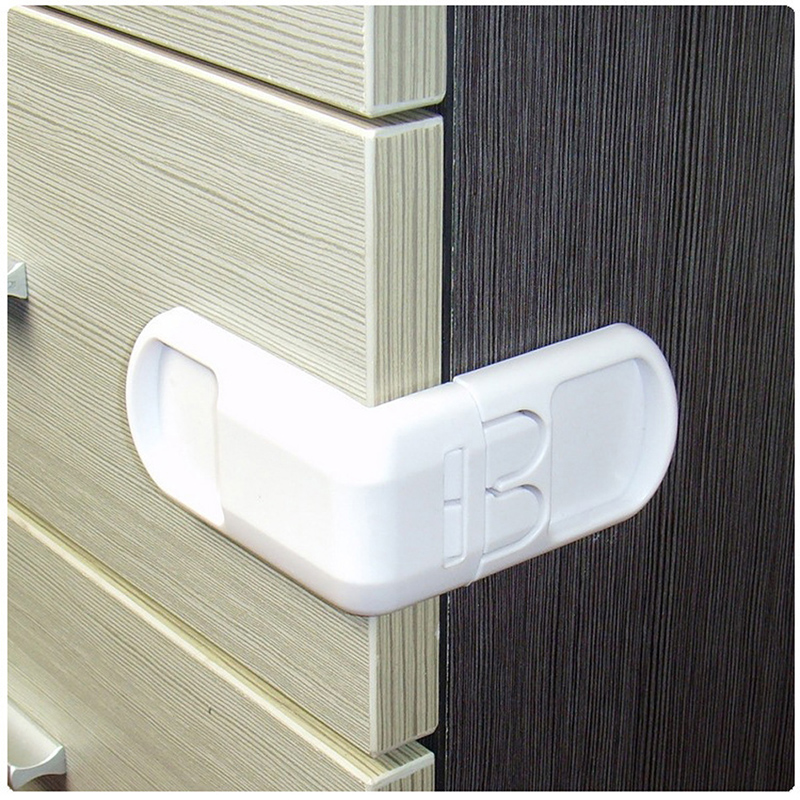 5pcs Infant Toddler Drawer Door Cabinet Cupboard Double Buckle Safety Lock Baby Kids Child Safety Protection from children 9556 in Cabinet Locks Straps from Mother Kids