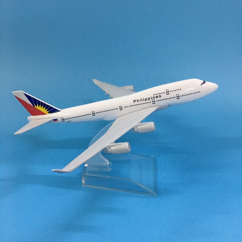 JASON TUTU Plane Model Airplane Model 16cm Philippines B777 Boeing 747 Aircraft Model 1:400 Diecast Metal Airplanes Plane Toys