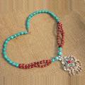 Tibet Nepal jóias étnicas colar flor de ameixa D-22