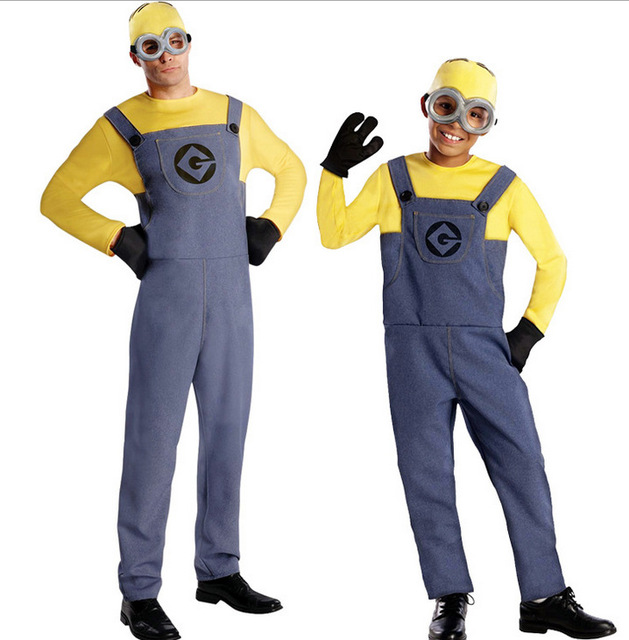 free shipping Ladies mens Minion Adult Despicable Me Fancy Dress Costume M L  sc 1 st  AliExpress.com & Aliexpress.com : Buy free shipping Ladies mens Minion Adult ...