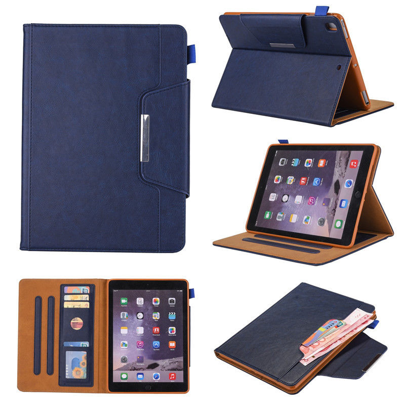 High Quality Leather Case For iPad 9.7 2017 2018 Cover Smart Protective Flip Stand Case for ipad 9.7 A1288 A1823 A1893 A1954 protective hard cover flip stand leather case for zte blade s6