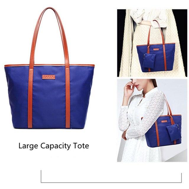f9df49e594 Large Capacity Tote Beach Handbag Women Casual Shopping Bag Oxford  Waterproof Travel Shoulder Bag Bolsa Feminina with coin purse
