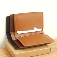 LAN Free Shipping Leather Wallet 100 Genuine Cow Leather Bank Card Holder Credit Card Case