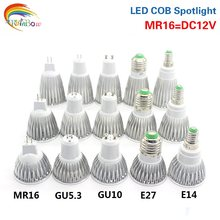 E14 LED cob זרקור 9 W 12 W 15 W led מנורת E27 GU10 GU5.3 AC85 כדי 265 V MR16 DC 12 V led הנורה E27 ספוט אור Bombillas Lamparas(China)
