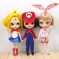 Cosplay Sailor Moon Super Mario Clothes Dress For Neo Blythe Doll Costume