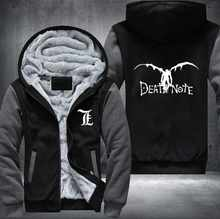 New Winter Jackets and Coats Death Note hoodie Anime Hooded Thick Zipper Men cardigan Sweatshirts USA Size - DISCOUNT ITEM  5% OFF Men\'s Clothing