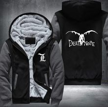 New Winter Jackets and Coats Death Note hoodie Anime Hooded Thick Zipper Men  cardigan Sweatshirts USA 8a6433669