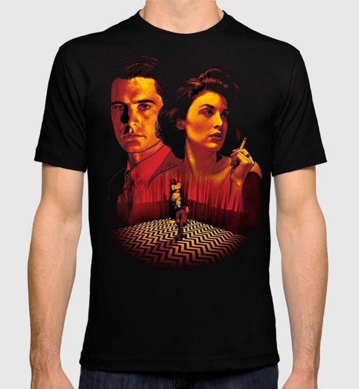 Band T Shirts Short Twin Peaks David Lynch Black New Cotton Mens T-Shirt Crew Neck Summer Tee Shirt For Men