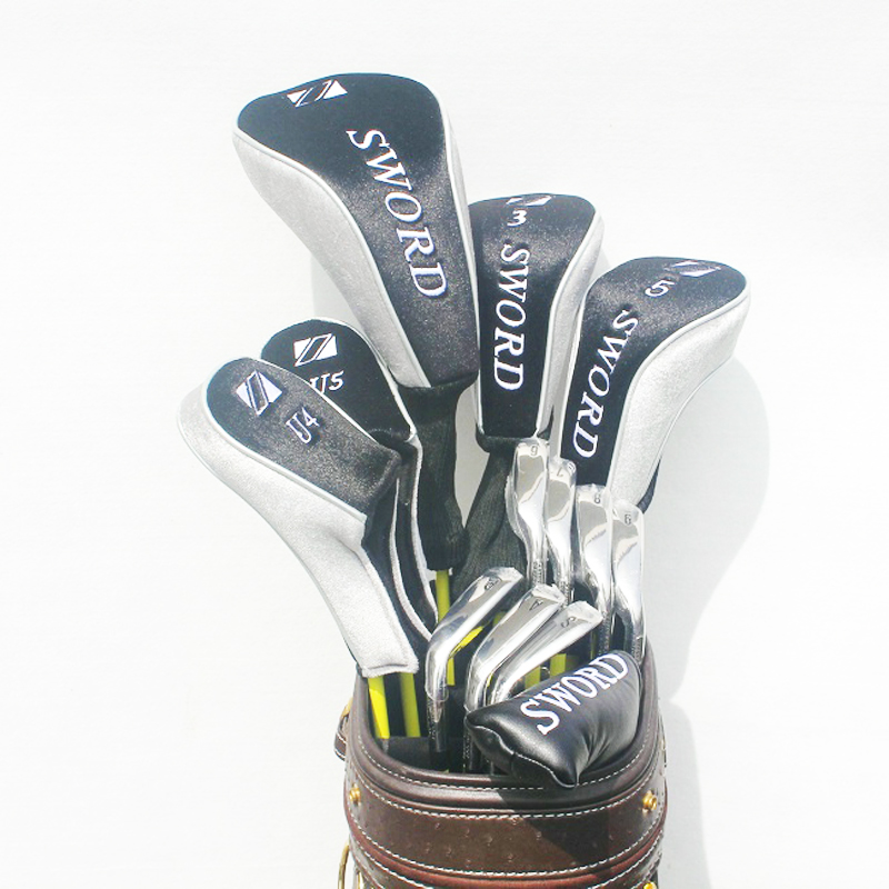 New Golf clubs SWORD complete clubs set Driver+3/5 fairway wood+irons+hybrid wood Graphite Golf shaft Headcover Free shipping womens golf clubs maruman rz complete clubs set driver fairway wood irons graphite golf shaft and cover no ball packs