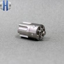 Titanium TA2 вращающаяся в форме журналов герметичная Водонепроницаемая коробка мини аварийная капсула комплект Открытый Портативный edc