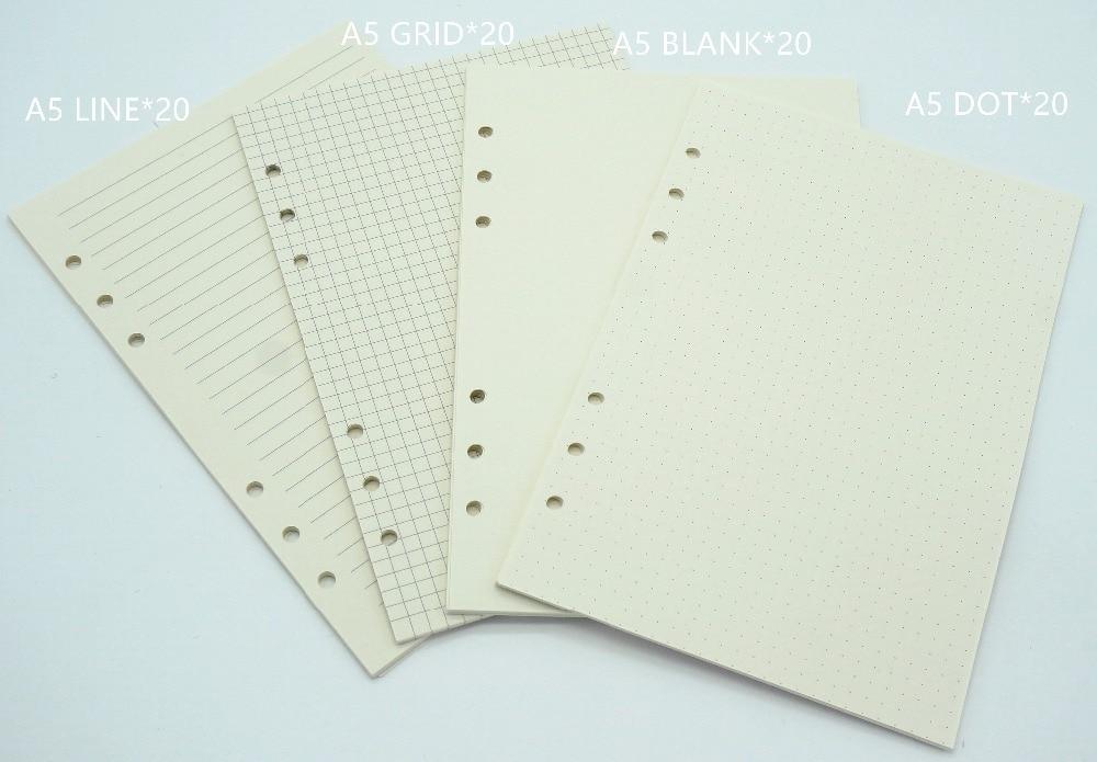 Cadernos linha de papel normal interno Size : A5, a6