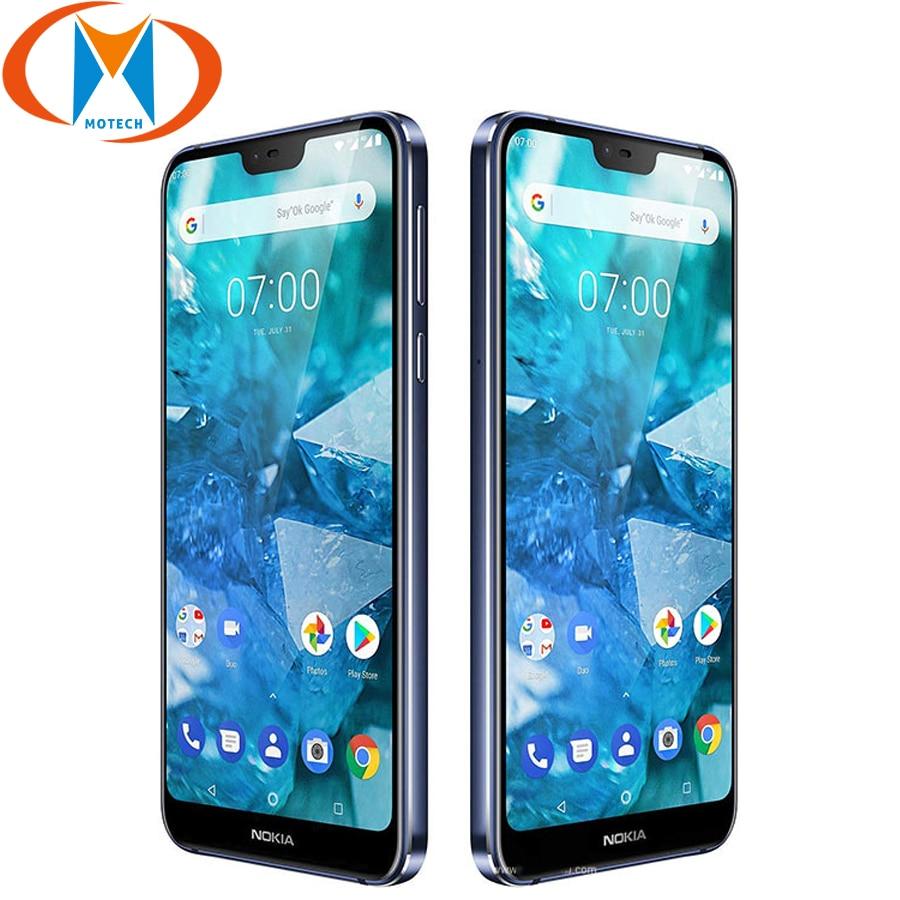 "Brand New Nokia 7.1 Smart Phone Global Version TA 1085 5.84"" Snapdragon Octa core 4GB RAM 64GB ROM Fingerprint NFC Mobile Phone-in Cellphones from Cellphones & Telecommunications    1"
