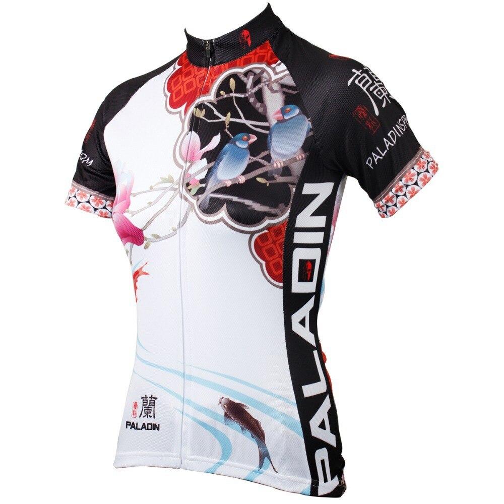 """PALADIN """"Magnolia - Chinese Painting"""" Dámské Cyklistické dresy s krátkým rukávem Jersey Bike Shirt"""