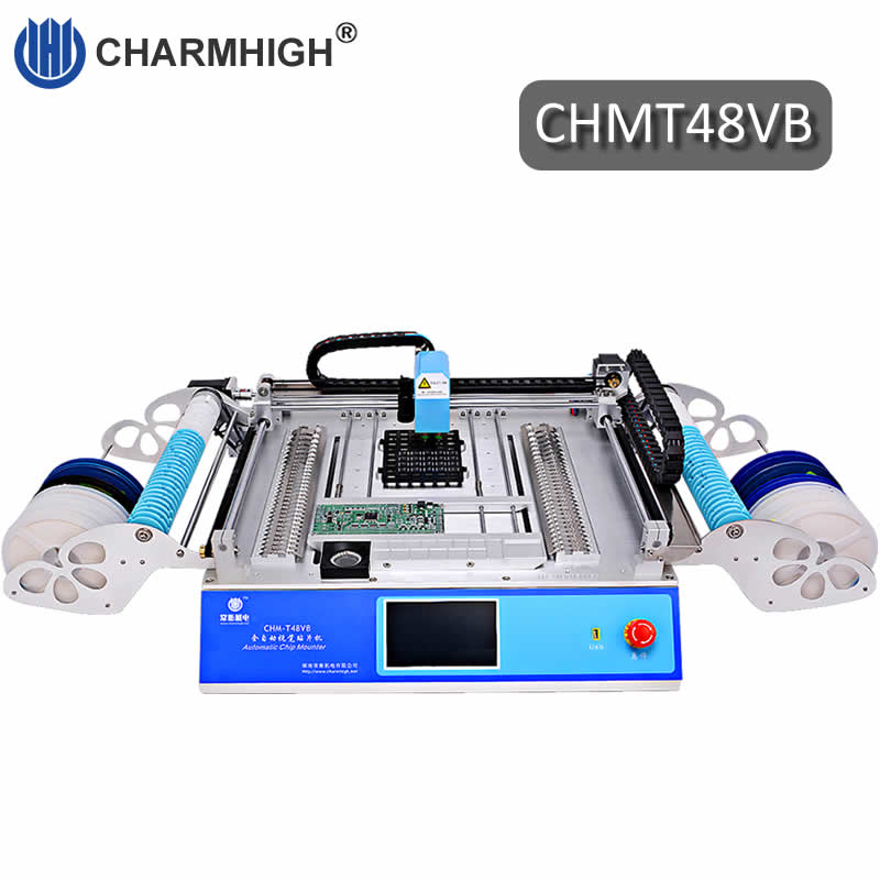 Hottest 58pcs Feeders 2 Vision Camera CHM T48VB Charmhigh SMT Pick and Place Machine chmt48vb Industry